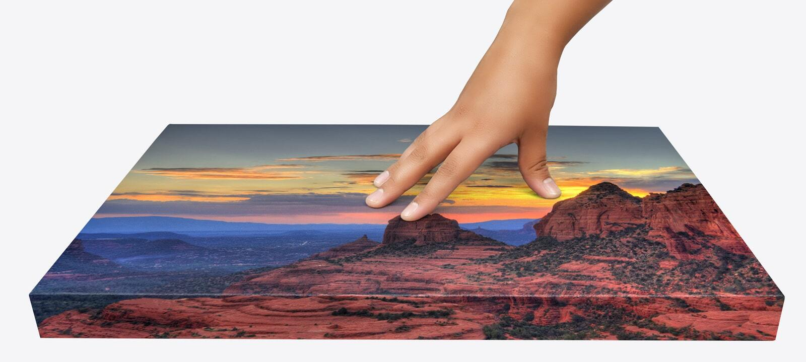 Hand over canvas print