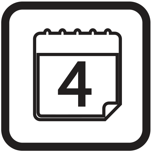 4 day turnaround time icon